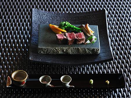 県産和牛のヒレ肉のステーキ